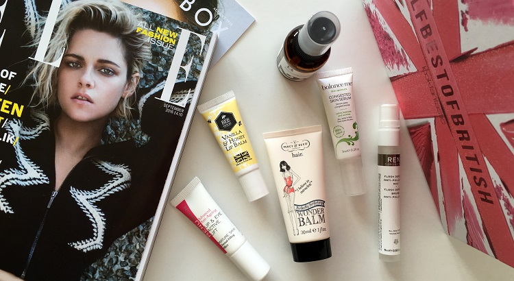 Lookfantastic Beauty Box August 2016 #LFbestofbritish review