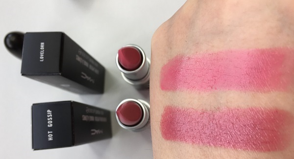 hot gossip lovelorn mac lipstick swatches