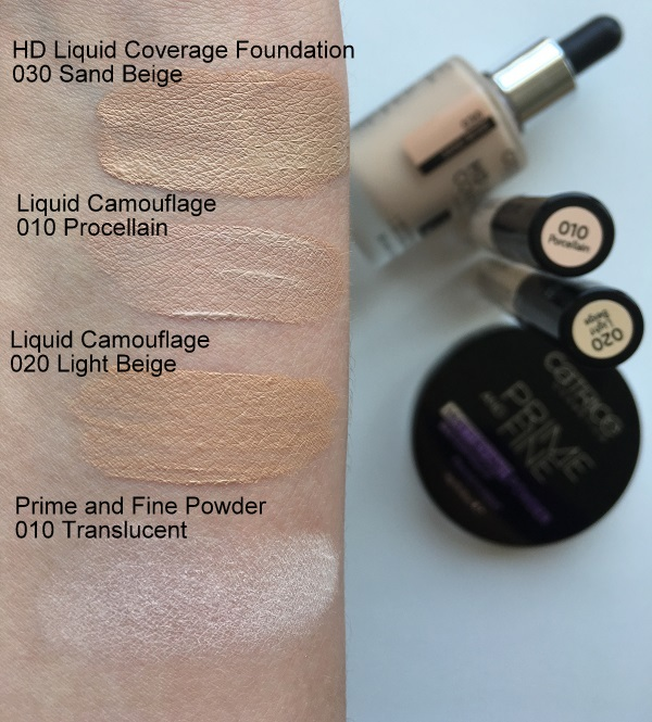 catrice cosmetics hd liquid fouadntion sand beige swatches daylight