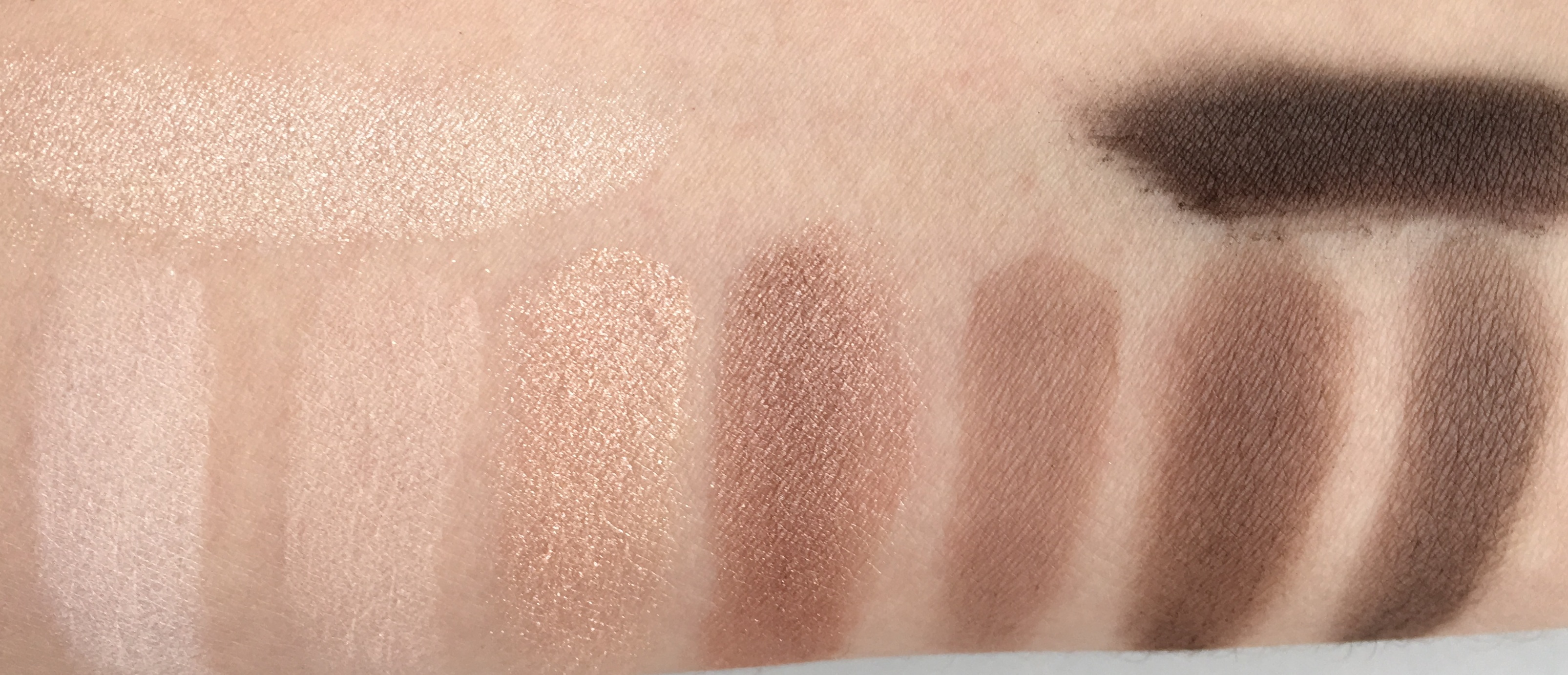 catrice the essential nude collection eyeshadow palette swtaches